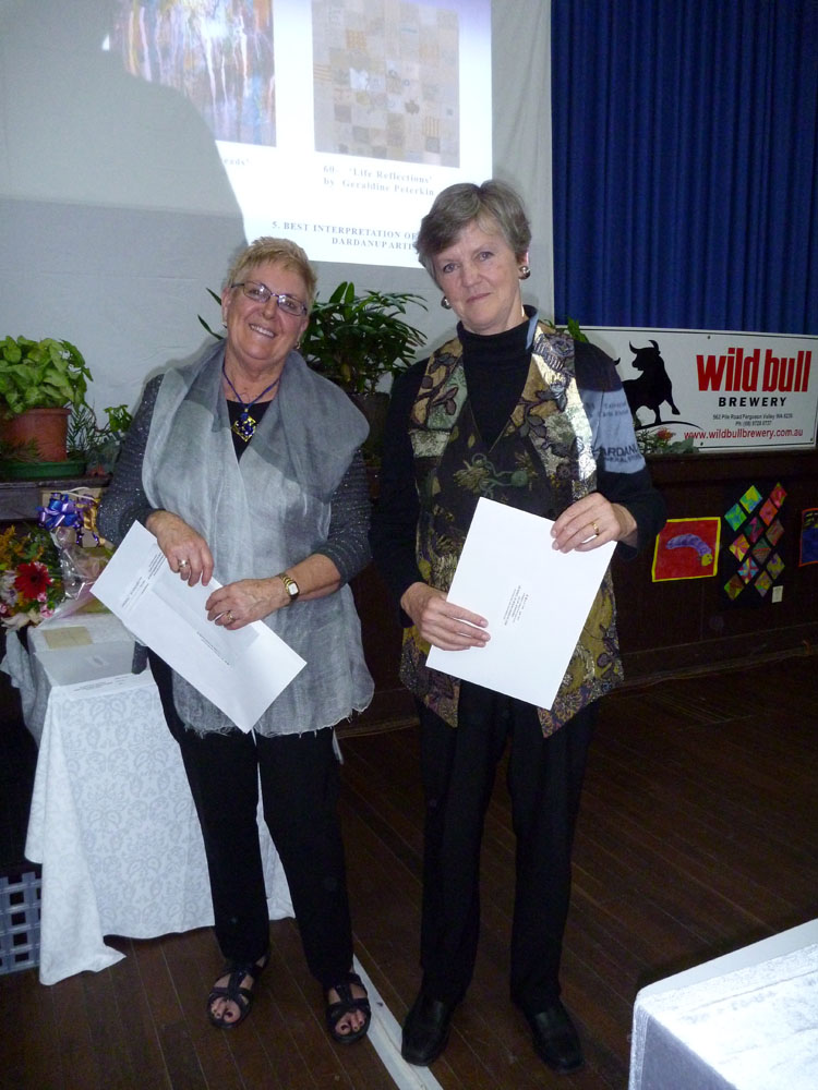 Best Interpretation of Theme by a Dardanup Artist Joint Winners Geraldine Peterkin &