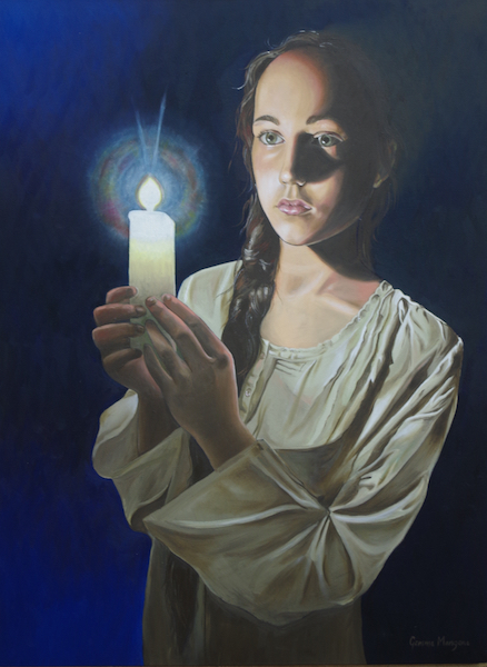 Illumination- Gemma Mangano Portrait Prize - Highly Commended DAS 2016